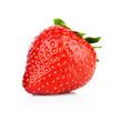 Single whole strawberry isolated