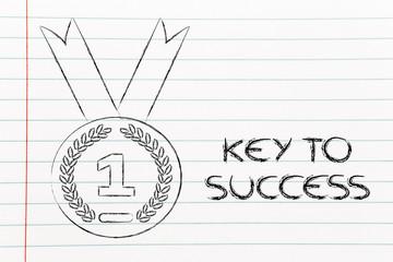 number one, gold medal symbol