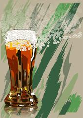 beer and foam
