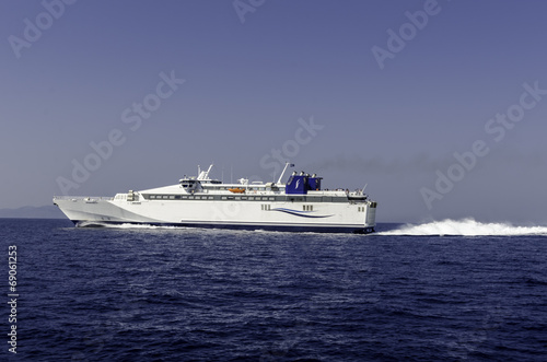Foto op Canvas Water Motorsp. Fähre Griechische Inseln