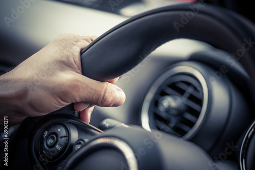canvas print picture Steering hand