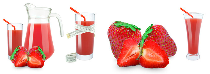 strawberry juice and meter