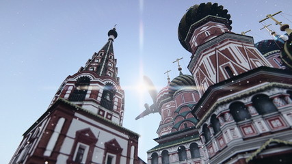 The Cathedral of Vasily the Blessed in Moscow, Russia.