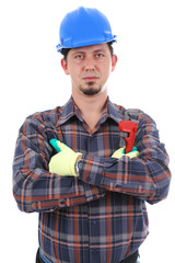 Repairman with arms crossed