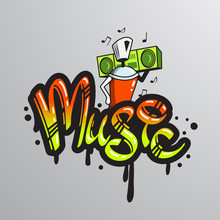 Graffiti word character print
