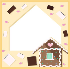 Frame with sweets