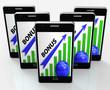 Bonus Graph Phone Shows Incentives Rewards And Premiums