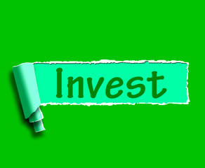 Invest Word Shows Internet Investment And Returns