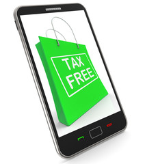 Tax Free Shopping Phone Shows No Duty Taxation