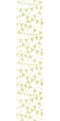 Green Textile Party Bunting Vertical Seamless Pattern Background