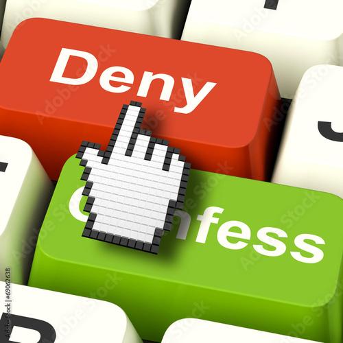 Denial Deny Keys Shows Guilt Or Denying Guilt Online