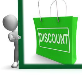 Discount Shopping Sign Means Cut Price Or Reduce