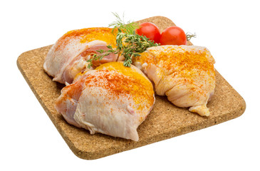Raw chicken thigh