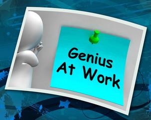 Genius At Work Means Do Not Disturb Me