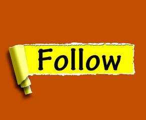 Follow Word Means Following On Social Media For Updates