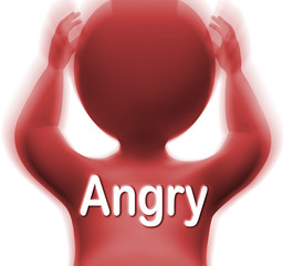 Angry Man Means Mad Outraged Or Furious