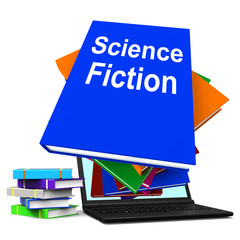 Science Fiction Book Stack Online Shows SciFi Books