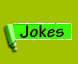 Jokes Word Means Humour And Laughs On Web poster