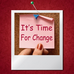 Its Time For Change Photo Means Revise Reset Or Transform