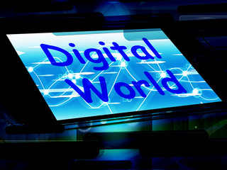 Digital World On Phone Means Connection Internet Www
