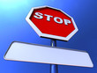 Stop Sign With Blank Copy space For Message