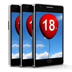 Balloon Phone Represents Eighteenth Happy Birthday Celebration