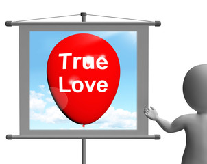 True Love Sign Represents Lovers and Couples