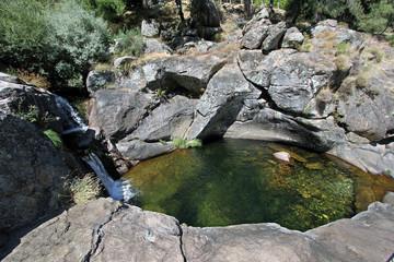 Charco del río Arbillas, Poyales del Hoyo, Ávila, España