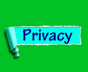 Privacy Word Shows Protection Of Confidential Information