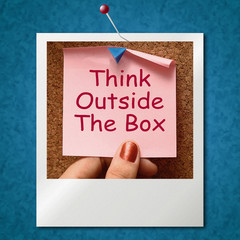 Think Outside The Box Photo Means Different Unconventional Think