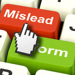 Mislead Inform Computer Shows Misleading Or Informative Advice