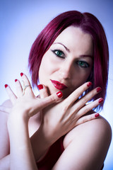 Beautiful red head woman