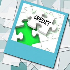 Credit Photo Means Loans Financing  Or Borrowed Money