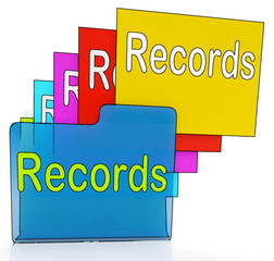Records Folders Shows Files Reports Or Evidence