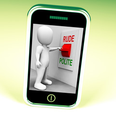 Rude Polite Switch Means Good Bad Manners