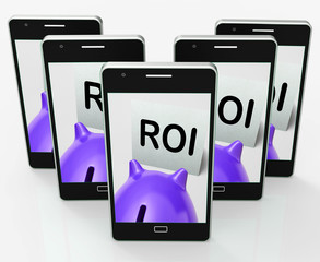 ROI Piggy Bank Means Investing Financing And Return