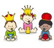 three kings vector card