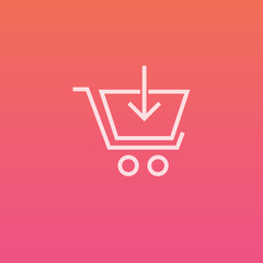 Shopping cart add - Finely crafted line icons