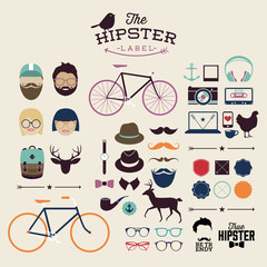Hipster style infographics elements