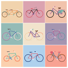 9 Vintage Retro Bicycle Background
