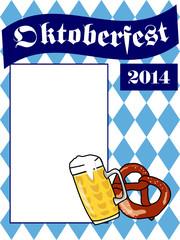 Oktoberfest Bier und Brezel