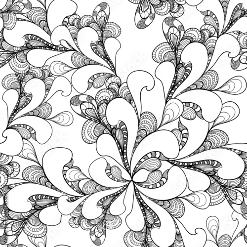 Keuken foto achterwand Kunstmatig Abstract doodle seamless pattern on white background
