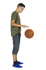 Young man dribble with ball