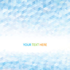 Abstract perspective geometric light blue  background.