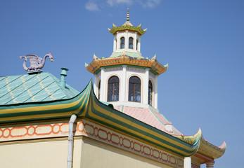 Фрагмент крыш комплекса зданий Китайской деревни в Царском Селе