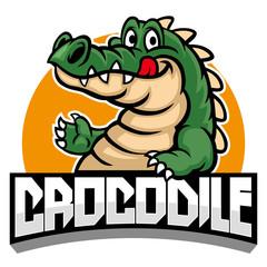 cartoon of crocodile mascot