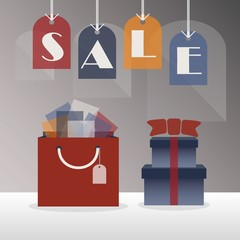 SALE hanging tags - with giftbag and gift boxes