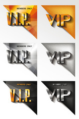 Set of  Vip  CORNERS