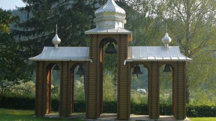 Ukrainian bell tower near the church