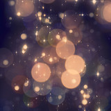Christmas sparkle background with blured lights poster
